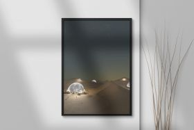 Moons in the Dunes Print