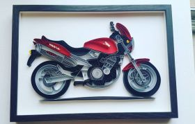 Quilled Motorbike for bike lovers