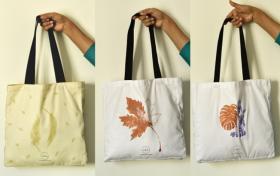 Tote Bag Henna, Tote Bag Fabric Painted