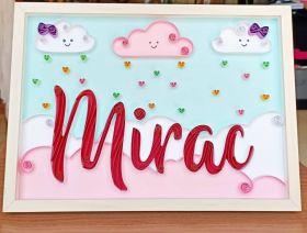 Cute Angelic Name Frame