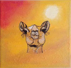 Camel in the Desert - Print