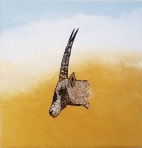 Oryx in the Desert Storm - Print