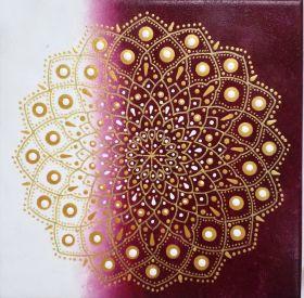 Golden Mandala Print