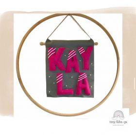 Wall Hanging Decor with Personalized Names