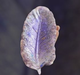 Purple feather tray