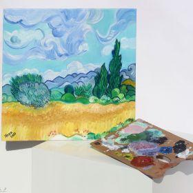 Wheatfield with Cypresses - Van Gogh
