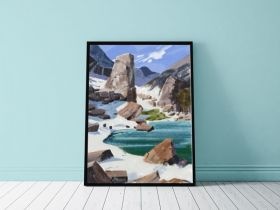 Scenery painting A4 frame