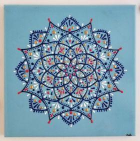 وردة ماندالا زرقاء