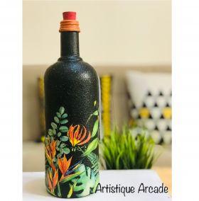 Handmade Upcycled Decoupage Glass Bottle