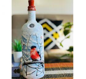 Handmade Glass Bottle Decor