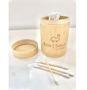 Cotton Buds in Bamboo Pot