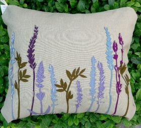 Cushion - With Floral Application (Herbs, Flowers)