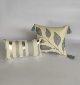 Silver, Set of 2 Cushion Covers