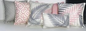Pinkish Set of 6 Cushion Covers