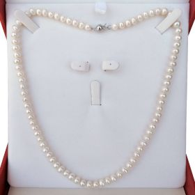 Pearl Necklace Single Strand 6-7mm