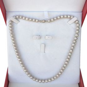 Pearl Necklace Single Strand 7-8mm in box