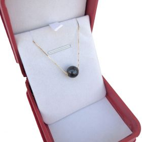 Freshwater Perforated Pearl Pendant In 18K Gold