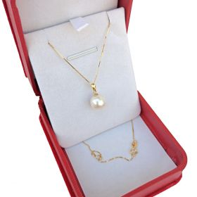 Freshwater Solitaire Pearl Pendant in 18K Gold