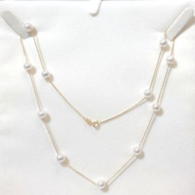 Freshwater Pearl Necklace In Gold 18K