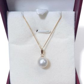 Freshwater Pearl Solitaire Pendant In 18K Gold