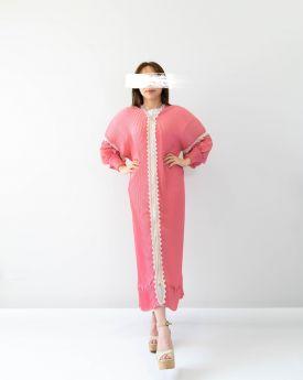 Pink Lace Abaya (Look3)