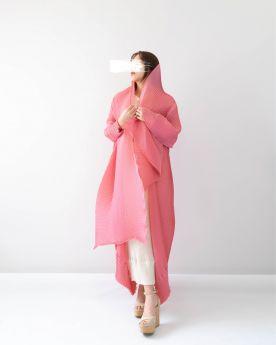 Pink DNA Abaya (Look2)