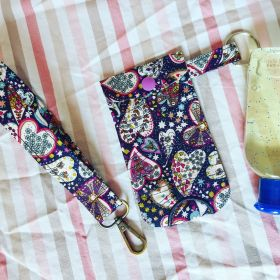 Handy Hand Sanitizer Pouch and Key Fob set
