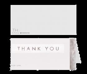 Folded Cards in Transparent Matte Paper