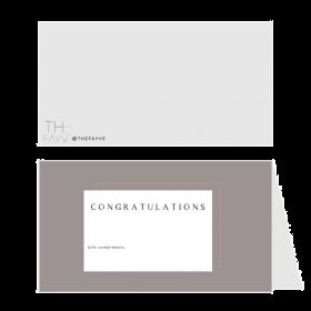 بطاقات مطوية بالورق الشفاف المطفي