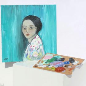 Woman in Green - Van Gogh
