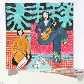 لوحة فتاتان مع الغيتار - هينري ماتيس