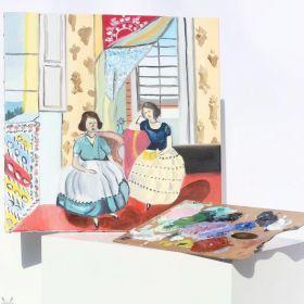 لوحة شاي العصر - هينري ماتيس