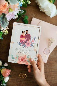 دعوات زفاف مخصصة