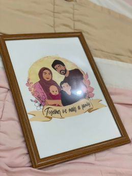 Customized A4 Frames - additional 5 family members