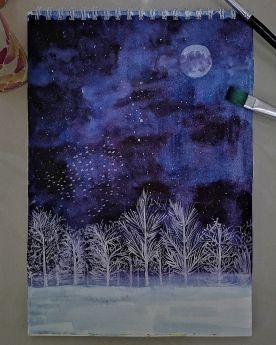 لوحة ملهمة مصنوعة يدويًا - ضوء القمر