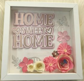 Home Sweet Home Floral Shadow Box