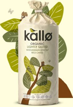 Kallo Organic Lightly Salted Wholegrain Rice Cake
