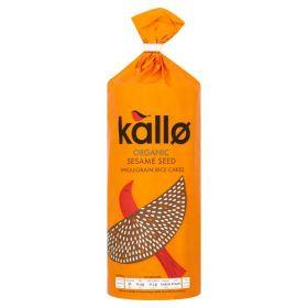 Kallo Organic Sesame Seed Rice Cakes 130g