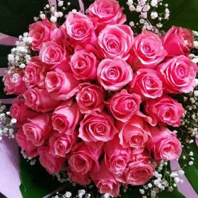 باقة الورد الوردي