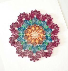 زهرة هندسية ماندالا