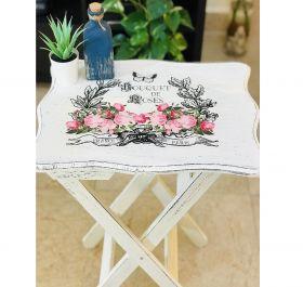 Handmade Vintage and Distressed Foldable Coffee Table