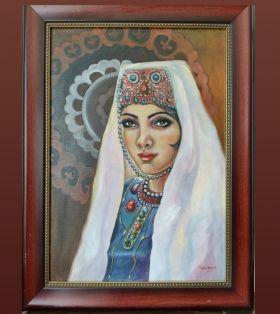 """لوحة """"امرأة بالزي التقليدي"""""""