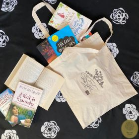 Eco-Friendly, biodegradable tote bag with a hand-embroidery pattern.