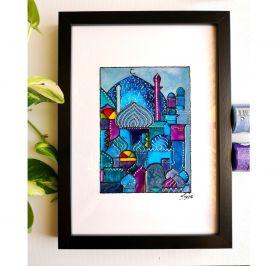 'Little Town - Blue' - Artwork