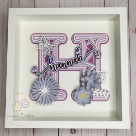 Personalized Name Floral Frame