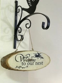 Inspirational Wood Sign (Wall Hanging)-Welcome2