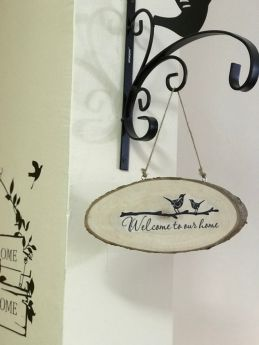 Inspirational Wood Sign (Wall Hanging)-Welcome