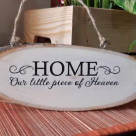 Inspirational Wood Sign (Wall Hanging)-Home